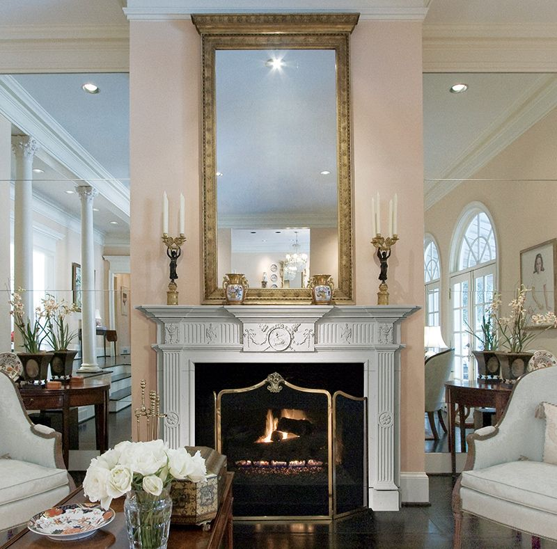 English fireplace mantel