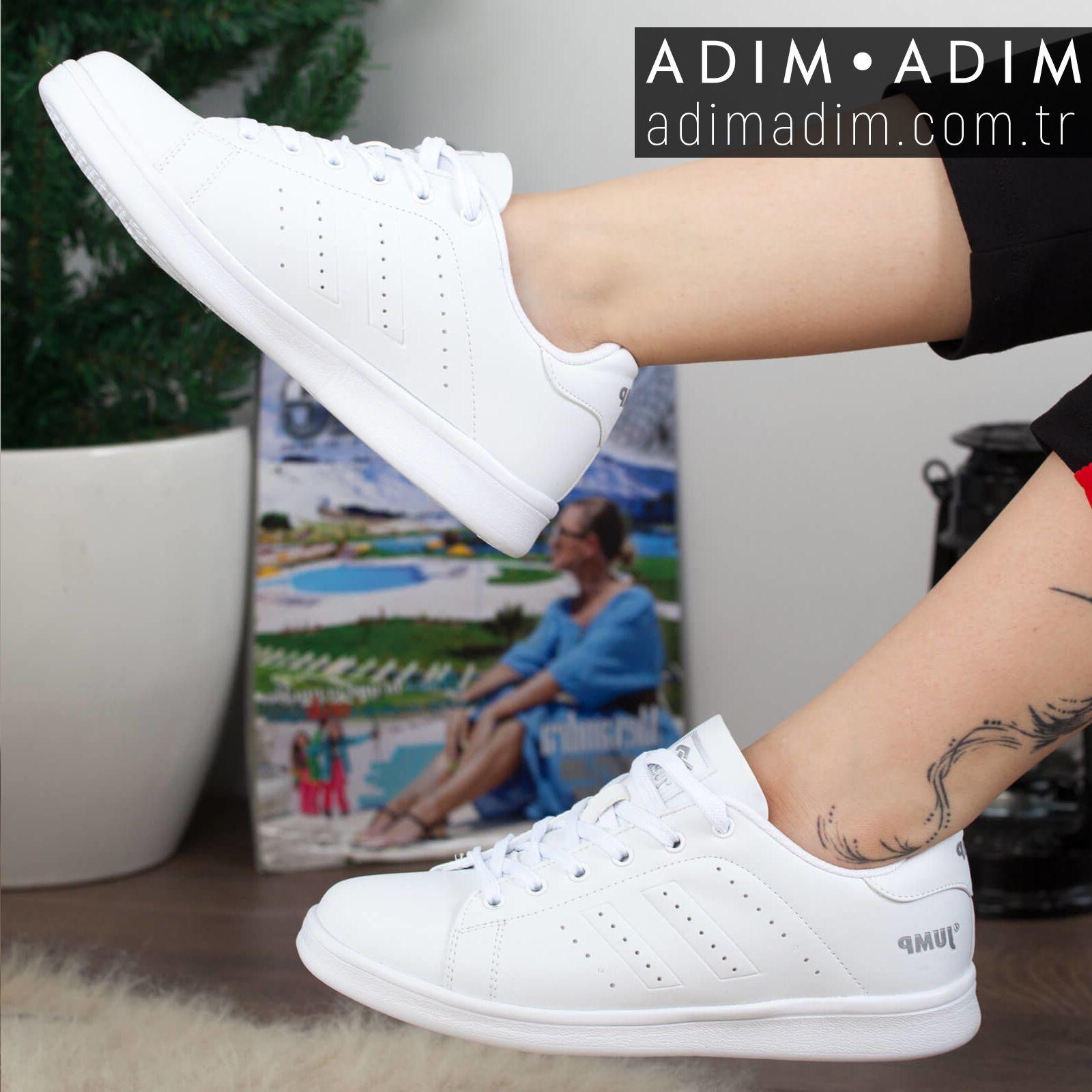Jump Kadin Gunluk Spor Ayakkabi Fiyat 119 90 Tl Numara 36 40 Renk Beyaz Siyah Beyaz Urun Kodu A192yjmp006 Ayakkabilar Kadin Spor