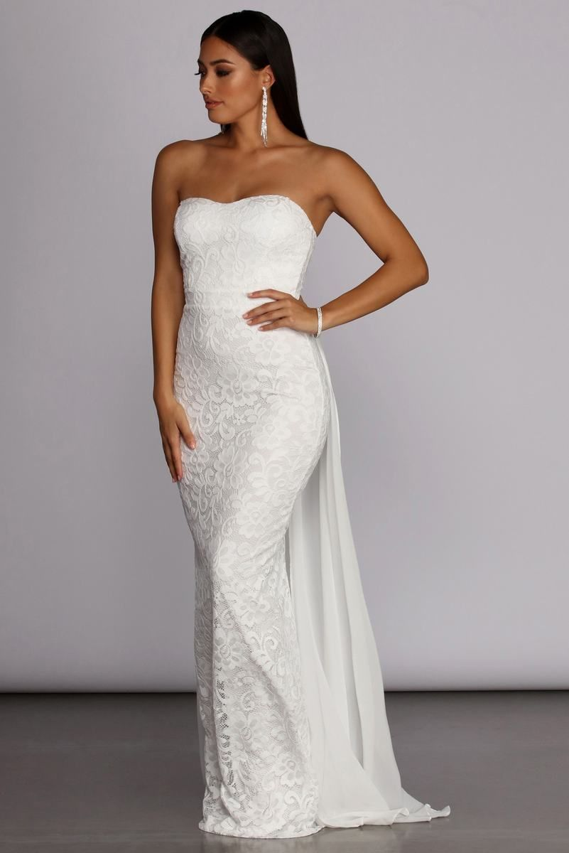 Bailey Strapless Lace Dress Strapless Lace Dress Strapless Dress Formal Lace Dress [ 1200 x 801 Pixel ]