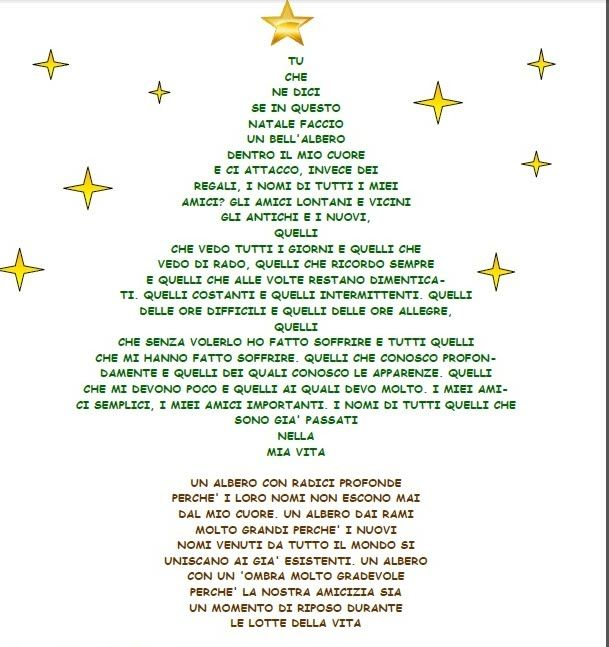Poesie di natale scritte forma di albero cerca con - Mago ma bel ...
