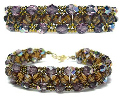Jewelry Projects with Crystal Beads | Armbänder, Perlen und Schmuck