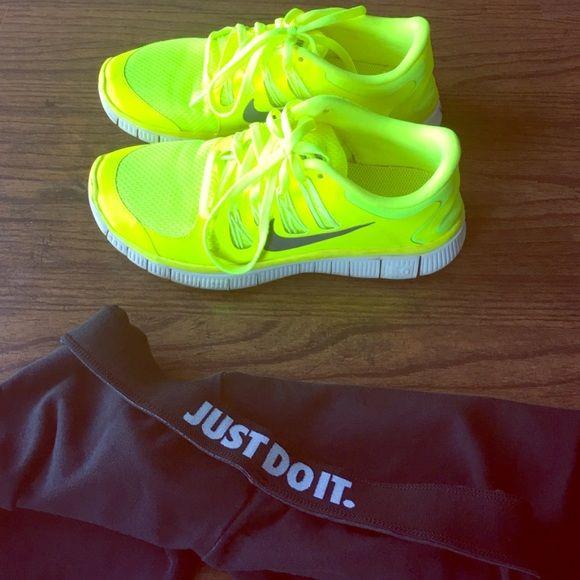 Nike Neon Freeruns | Neon nike shoes