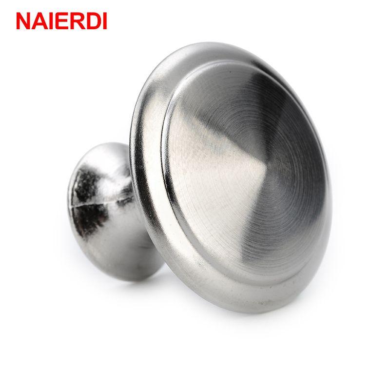 NAIERDI Durchmesser 24/28mm Zink Satin Nickel Cabinet Pull Schrank ...