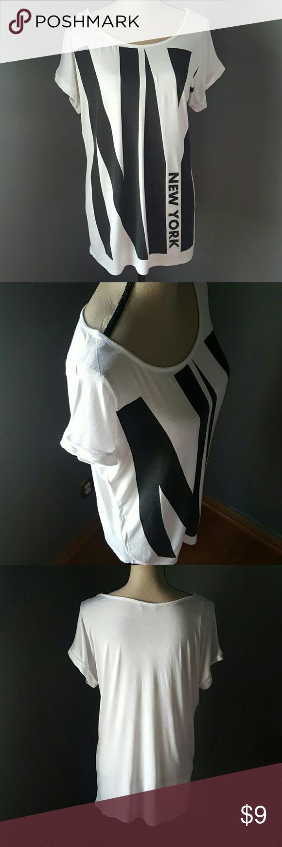 Statement Tshirt Women's New York graphic statement tshirt. Deb Tops Tees - Short Sleeve