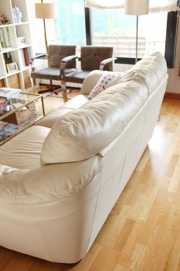 Groovy Mi Experiencia Sofa Blanco De Piel Con Ninos En Casa Creativecarmelina Interior Chair Design Creativecarmelinacom