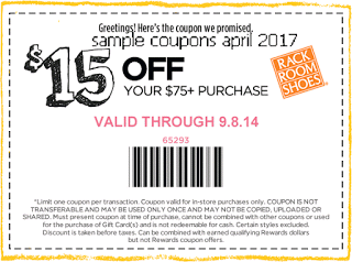 Rack Room Shoes coupons april 2017 | Free Printable Coupons April ...