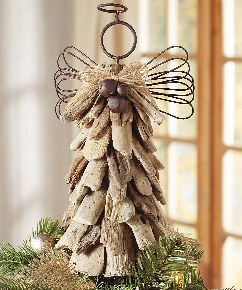 Driftwood Angel Tree Topper Diy Tree Topper Diy Christmas Tree Topper Rustic Tree Topper