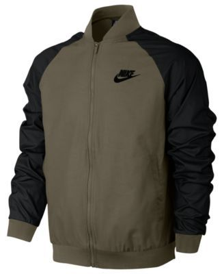bbde56dd7 Nike Men's Woven Players Bomber Jacket - Green 2XL | Products | Nike ...