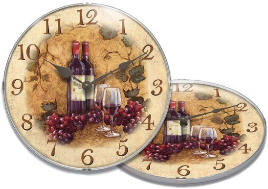 Wine And Grapes Wall Clocks – Shopping For
