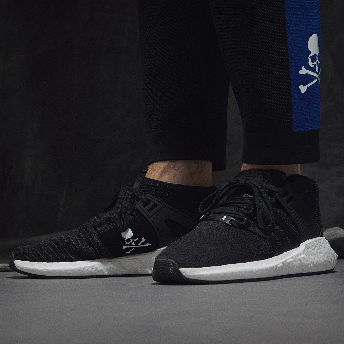 Adidas x Mastermind World EQT Support Mid negro / blanco