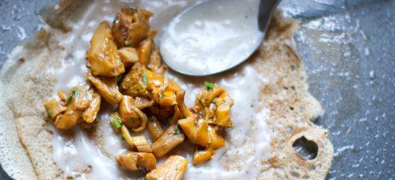 Ricetta Crespelle ai funghi vegan - le ricette di lacucinavegetariana.it