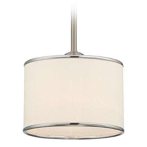 Savoy house satin nickel mini pendant light with drum shade mini savoy house satin nickel mini pendant light with drum shade mini pendant lights drum shade and mini pendant aloadofball Gallery
