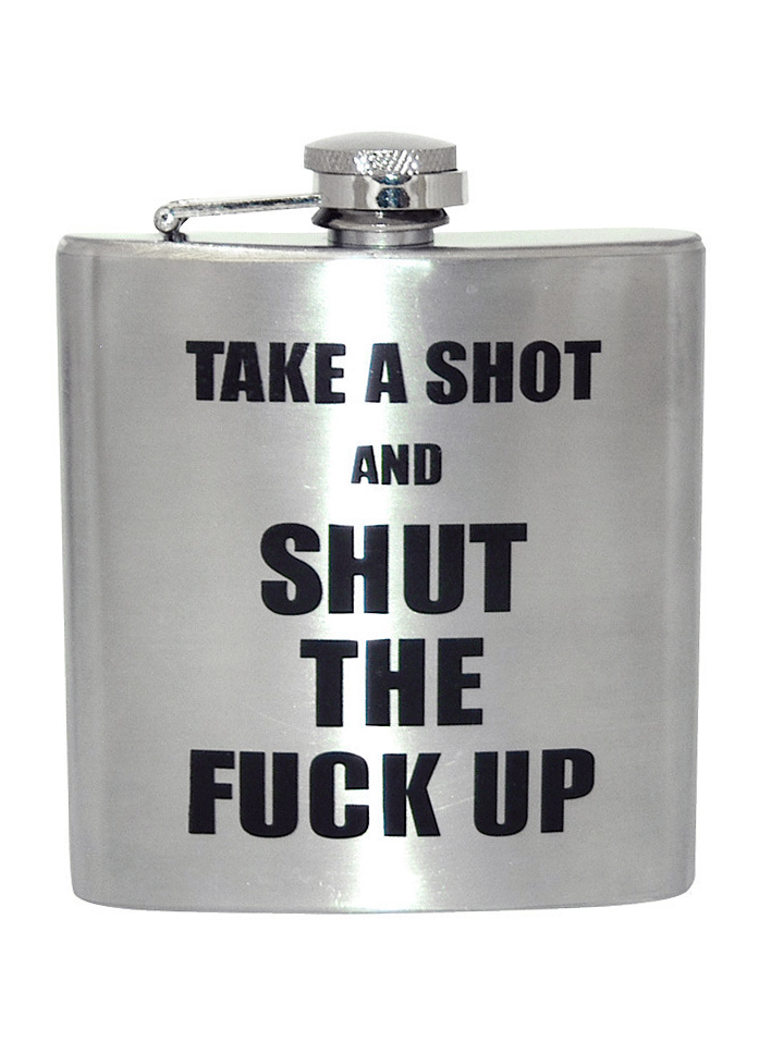"""S T F U"" Flask #InkedShop #flask #alcohol #party #college #gift #giftidea #STFU"