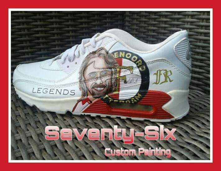 fec34406796ad7 CUSTOMIZED @Seventy-Six #handpainted #Nike air max 90 # Feyenoord #Mr