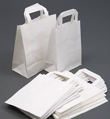 reputable site casual shoes pre order 30 White Paper Carriers Small Children Party Loot Craft Bags ...