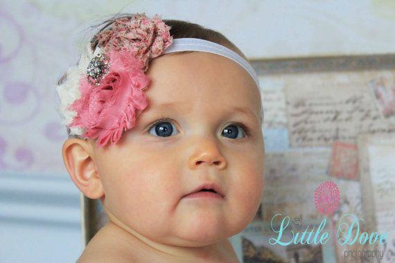 SALE-Newborn Headband-Baby Girl Headband-Baby Headband-Baby-Baby Girl-Vintage Inspired Headband-Baby Headbands-Infant Headband-Headband