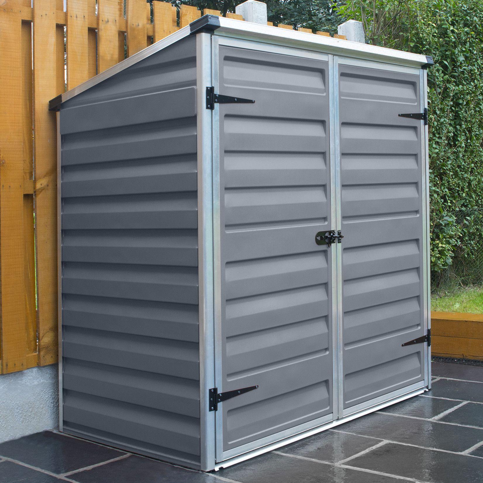 palram skylight voyager 1 x 2 polycarbonatealuminium storage shed wayfair uk - Garden Sheds 2 X 2