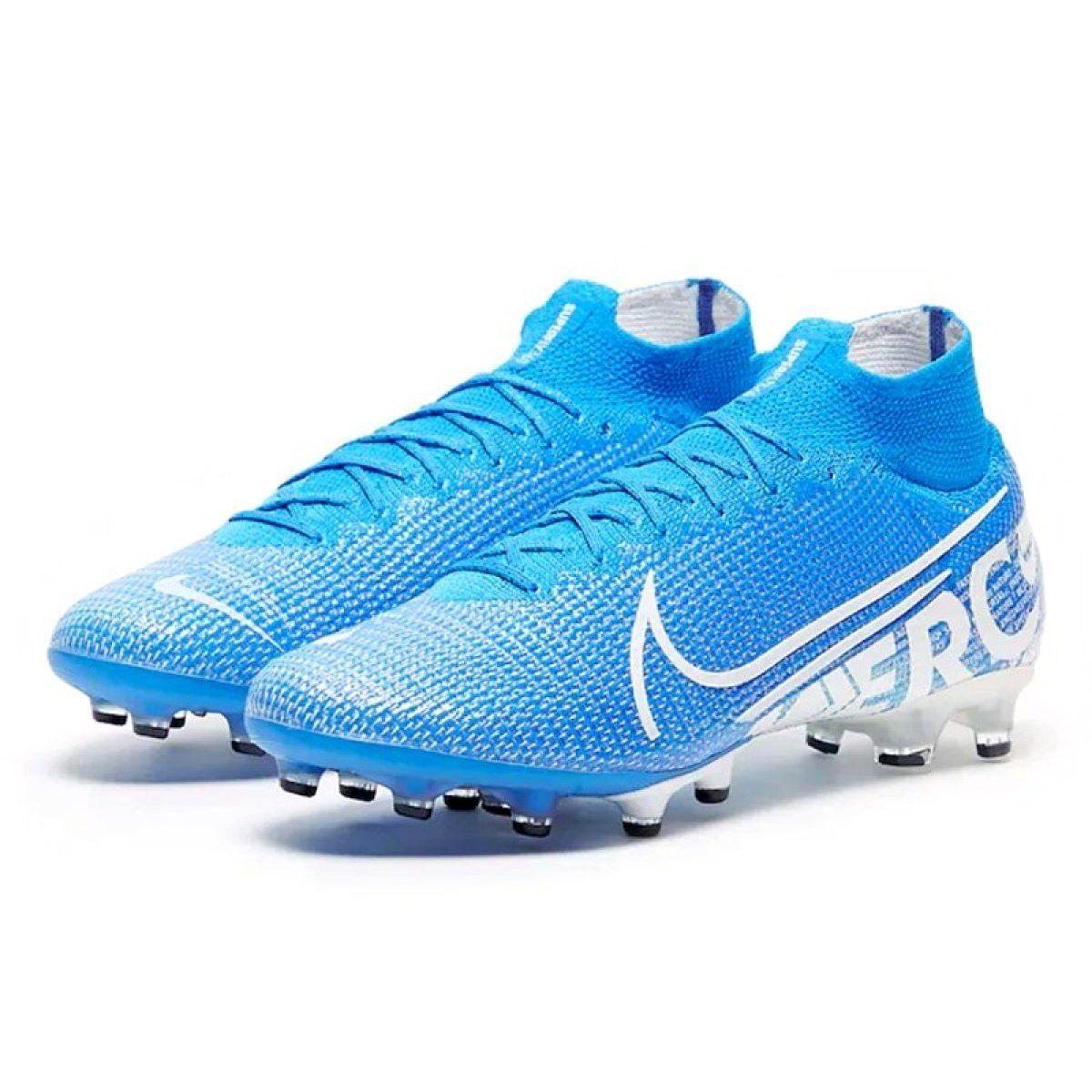 Buty Nike Mercurial Superfly 7 Elite Ag Pro M At7892 414 Niebiesko Biale Niebieskie Wielokolorowe Superfly Blue Shoes Nike