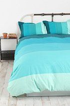 Tonal Stripe Duvet Cover  #UrbanOutfitters i'm not sure if i will ever NOT have a blue bedspread :)
