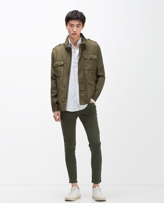 zara man linen safari jacket it 39 s all about colors. Black Bedroom Furniture Sets. Home Design Ideas