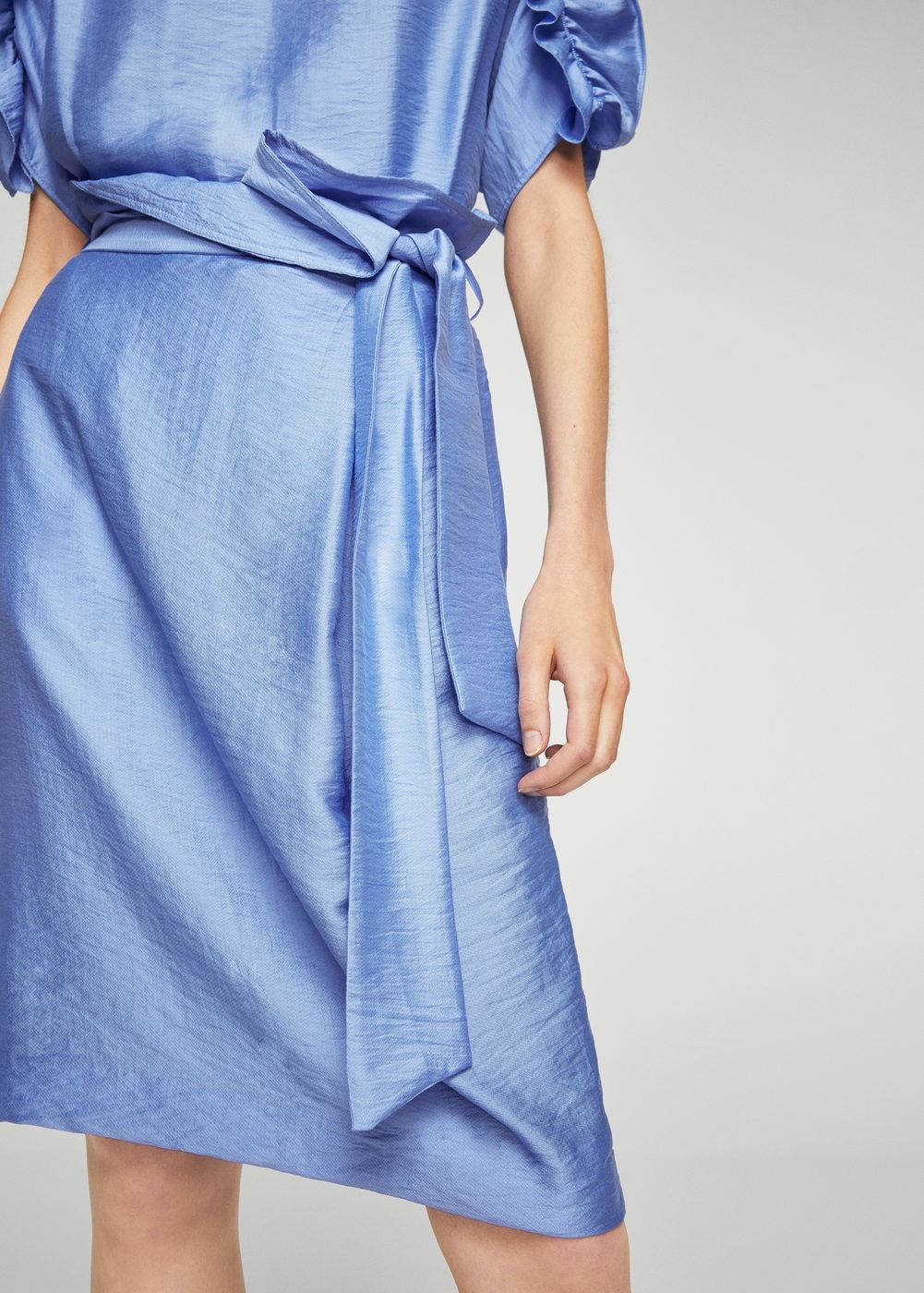 MANGO Bow satin skirt Cheap Release Dates ZxrswoO
