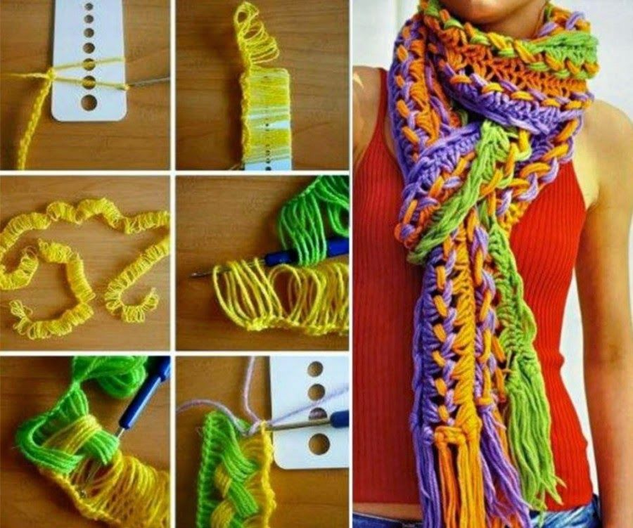 How to make a crochet hook scarf fashion scarf crochet diy fashion ...