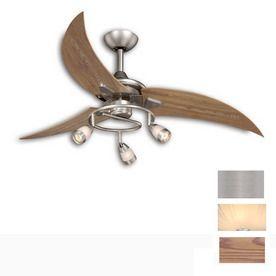 Cascadia Lighting 48 In Picard Brushed Nickel Ceiling Fan