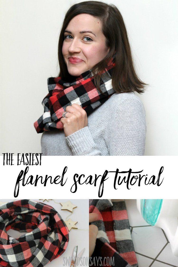 Friday Spotlight: Stephanie's DIY Flannel Infinity Scarf ...