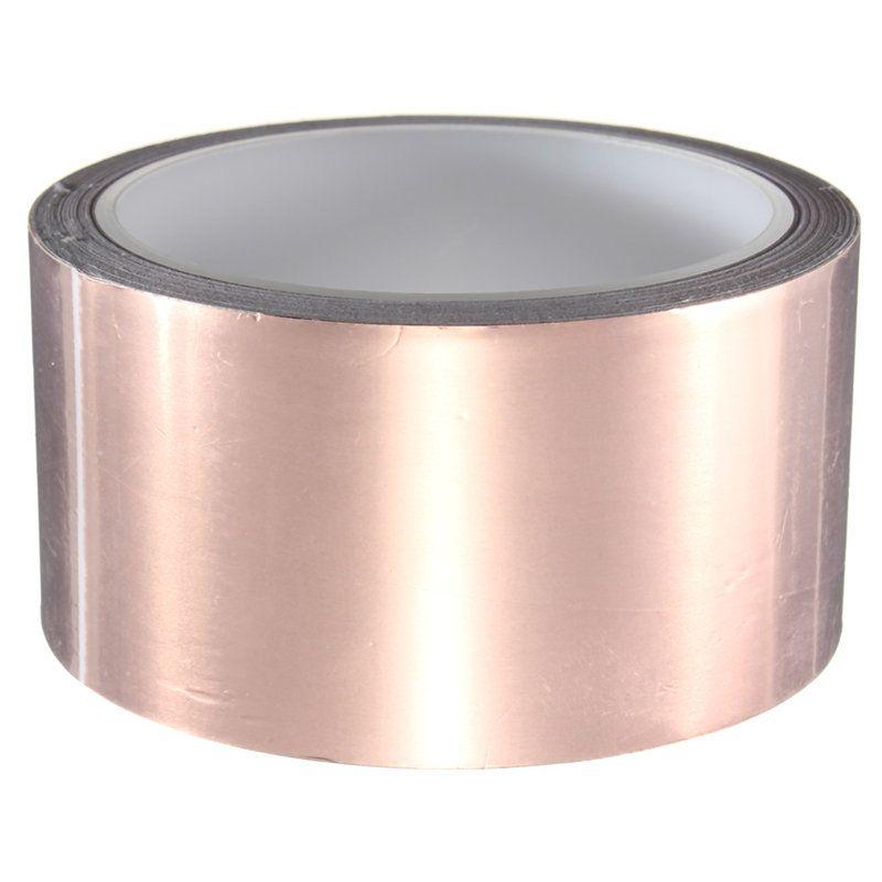 5 X 1000 Sm Klej Odnogo Lica Elektroprovodnosti Lenty Mednoj Folgi Zashitoj Em Gitary Puli I Ulitka Ik Barer Payalnoe N Copper Foil Tape Foil Tape Copper Foil
