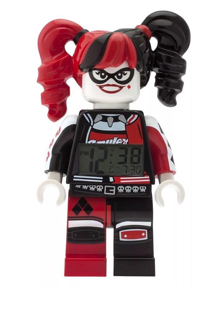 New Lego Batman Movie Harley Quinn Minifigure Light Up Alarm Clock
