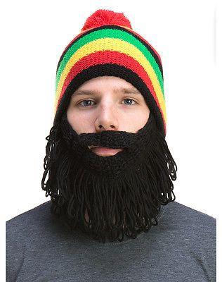 d090df56d45 Rasta-Reggae-Jamaican-Beard-Hat-Island-Man-Beanie-Knit-Cap-Costume ...