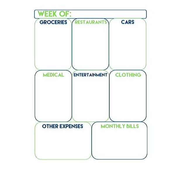 Printable Weekly Expense Tracker  Weekly Budget Template