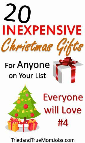 Inexpensive Gift Ideas | Cheap christmas gifts, Christmas ...
