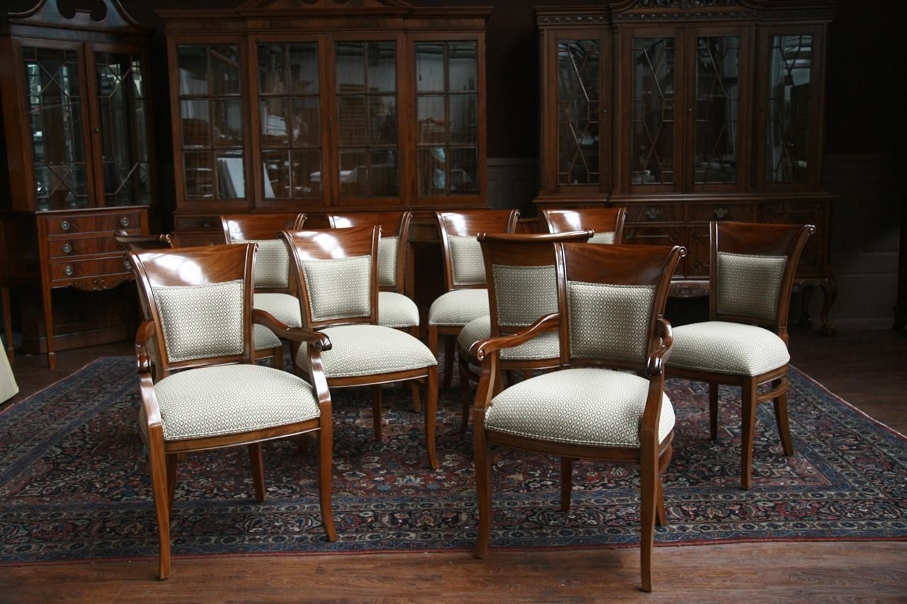 Room · mahogany dining chairs chippendale shieldbacks upholstered