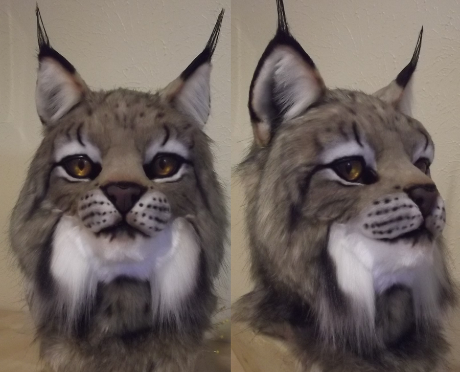 Canadian Lynx mask WIP by DreamVisionCreations on