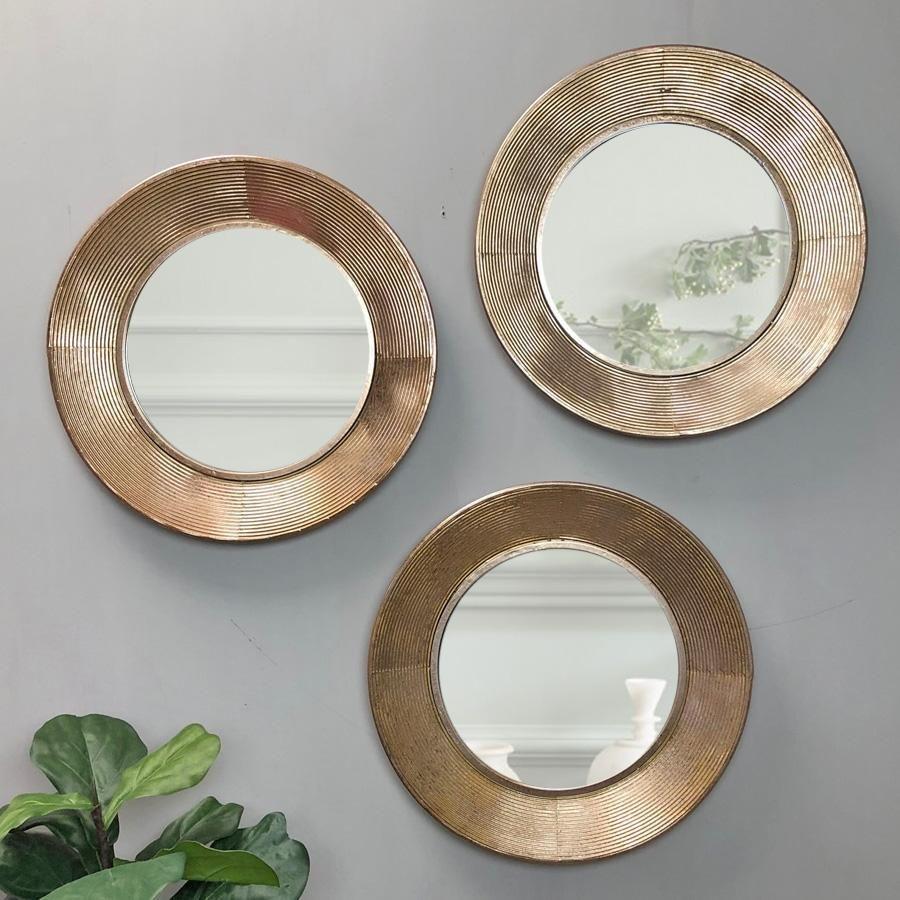 Textured Metallic Gold Mirror | Mirror, Distressed mirror ...
