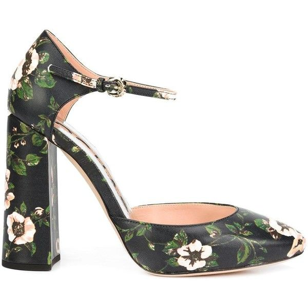 989c795b0ef Rochas floral Mary Jane pumps (€295) ❤ liked on Polyvore featuring shoes