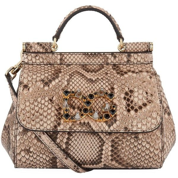 Dolce Gabbana Mini Sicily Python Bag 42 415 Mxn Liked On Polyvore Featuring