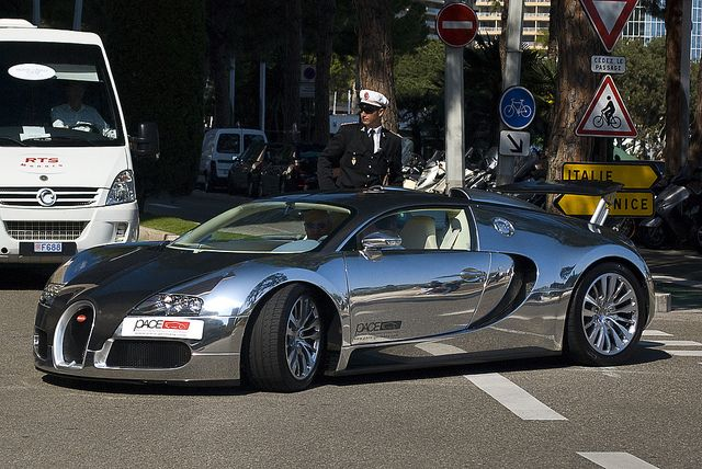 Bugatti Veyron-now it really looks like the rocket that it is.....