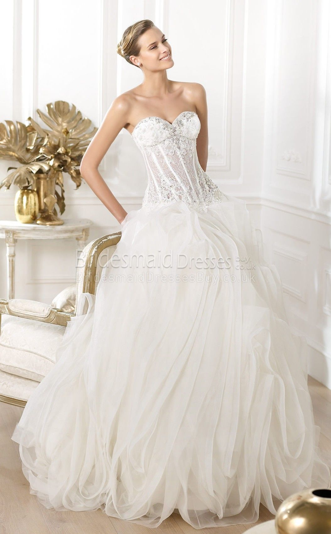 Luxurious sheathcolumn sweetheart sleeveless laceorganza floor