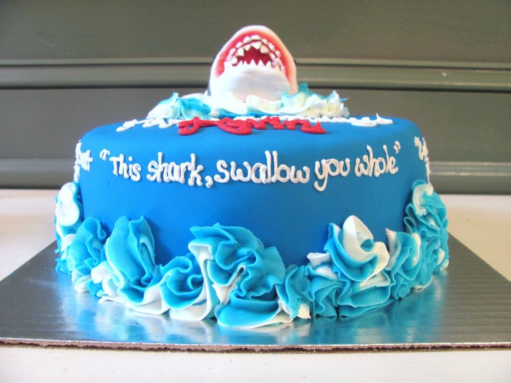 Jaws Shark Birthday Cake At Nashvillesweets Cakes By Nashville