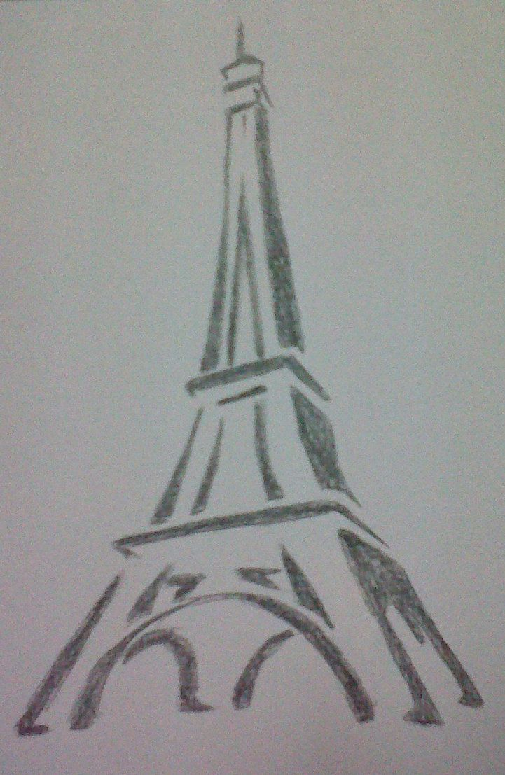 Eiffel Tower Pencil Sketch Eiffel Tower Dr...