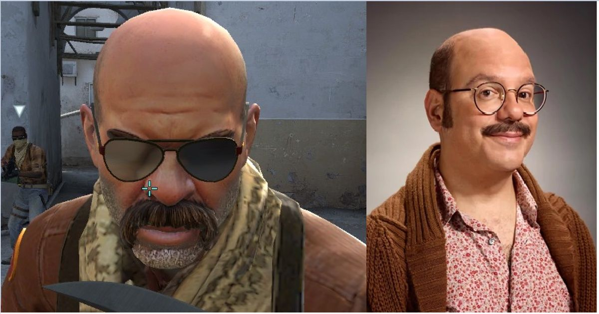 The new character model for dust 2 looks just like Tobias Funke from