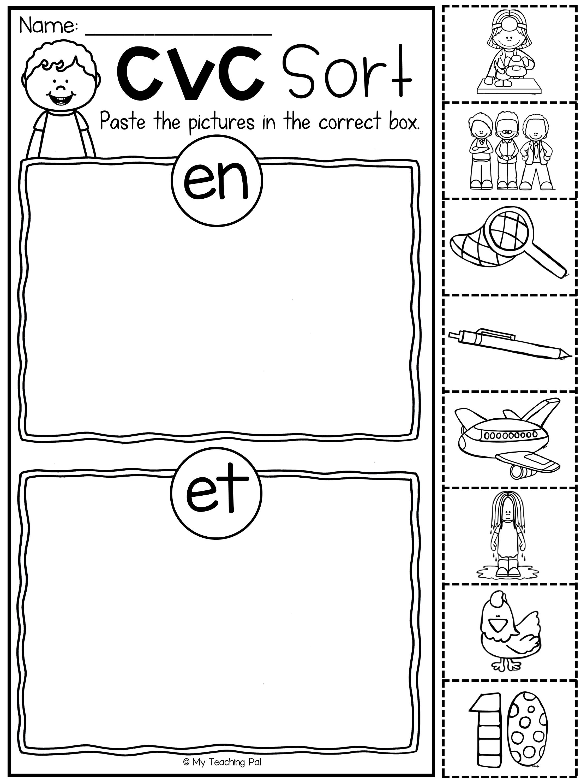 Short E Cvc Worksheet Pack With A Bonus Literacy Center My Tpt