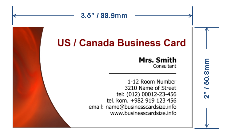 Us Canada Business Card Size Png 751 443 Business Card Mock Up Business Card Template Photoshop Business Card Typography