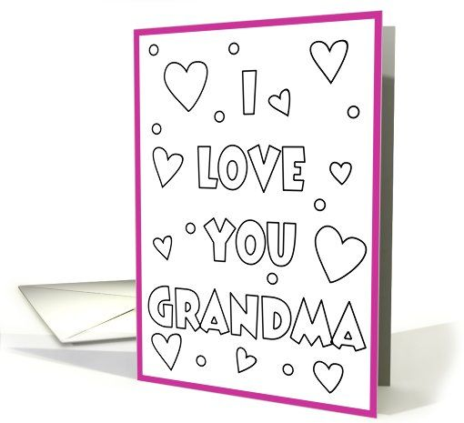 Happy+Birthday+Grandma+Coloring+Card   Happy birthday ...