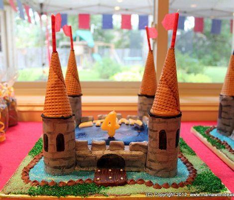 Tarta medieval para ni os mesa ch teau pinterest - Manualidades castillo medieval ...