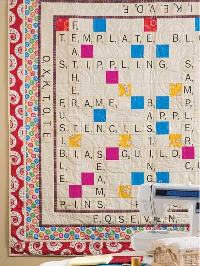 Scrabble Quilt... my mom is making one similar to this, but using ... : names of quilts - Adamdwight.com