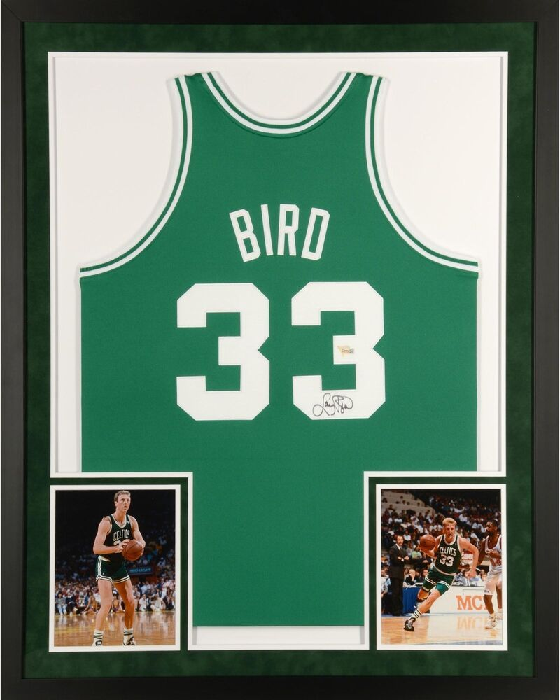e4cde47bbd0 Larry Bird Boston Celtics Framed Signed Green Mitchell   Ness Jersey -  Fanatics  sportsmemorabilia  autograph  basketballjersey