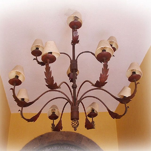 "Made To Order Iron Chandelier ""Ayala"" Old world iron chandelier for illuminating commercial and residential spaces.  #mycustommade"